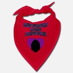 'My Heart Goes Newfie Purple Heart' Bandana | Spreadshirt