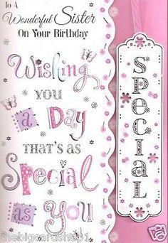 Sister Birthday Card For A Wonderful