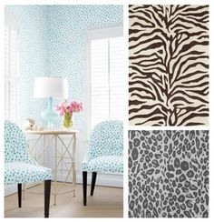 Exotic Twist Trend:  Animal prints seem to pop up with every new trend – but how can you add a little to your look without overdoing it? Here are some fun modernized prints which are perfect accents to any space. Stick to one animal print per space, whether it's a small toss cushion or an upholstered ottoman. ~ By Endless Ideas