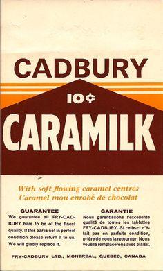 Cadbury Caramilk Chocolate Bar 1960's...10 cents.