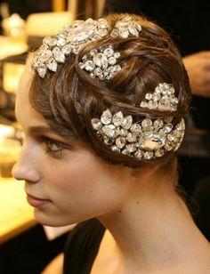 So Gatsby and beautiful! Flapper Hair, Gatsby Hair, Summer Hairstyles, Pretty Hairstyles, Wedding Hairstyles, Hair Day, My Hair, Hair Updo, Catwalk Hair