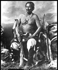 Born in 1818, Manuelito was an important war leader for the  Navajos.  In 1863, he led his tribe in the fight against General James  Carleton, who was sent to remove the Navajos from their native  territories.  Resisting the resettlement, Manuelito and his warriors  fought Carleton until they were forced to surrender in 1865.   Manuelito and his people were moved to Bosque Redondo, on the  Pecos River in the Territory of New Mexico, where disease and  famine came close to devastating the…