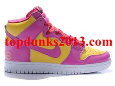 huge discount 17e85 12e43 Suitable Premium Pink Yellow Fragment Design Logo Nike Dunk High Top