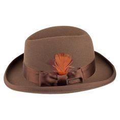 Stetson Hats Saks Fur Felt Homburg - Pecan from Village Hats.