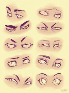 drawing Illustration eyes DIY tutorials art reference cartooning how to draw anime eyes cartoon eyes art instruction disney eyes character design reference anatomy for artists drawing lesson Cartoon Drawings, Disney Drawings, Art Drawings, Drawing Disney, Cartoon Faces, Drawing Art, Man Face Drawing, Drawing Cartoon Characters, Gesture Drawing