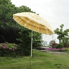 Outsunny Tiki Thatch 6 Ft Tilting Patio Umbrella