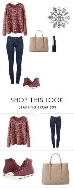 """Winter"" by agdancer10 ❤ liked on Polyvore featuring Frame Denim, Converse, MANGO and NARS Cosmetics"