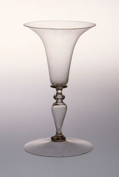 Drinking Glass Italy, Venice, circa 1550-1650 Furnishings; Serviceware Glass Height: 5 1/8 in. (13 cm); Diameter: 4 5/8 in. (11.7 cm)