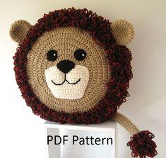 Alpaca Llama Pillow - Cushion CROCHET PATTERN - crochet patterns for animal pillows - Kids Birthday present - Nursery gift Cushion Cover Pattern, Crochet Cushion Cover, Crochet Pillow Pattern, Crochet Cushions, Crochet Patterns, Pillow Patterns, Lion Crochet, Crochet Animals, Crochet Home