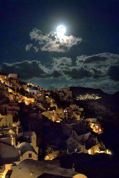 Moonlight Santorini, Greece