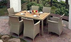 SAHARA 6 Online Furniture, Home Furniture, Outdoor Furniture Sets, Furniture Design, Outdoor Dining, Dining Table, Dining Sets, Outdoor Decor, Commercial Furniture
