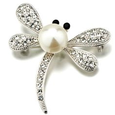 $15.99 Use a brooch to accessorize your favorite outfit or spice up apparel that just needs some extra kick. The Pugster April birthstone with pearl dragonfly Brooch is dragonfly. This Pugster brooch is perfect to give a fun, artistic flair to whatever it is that you are wearing. Pugster created each brooch for people who love high quality handcrafted jewelry with a price that is sure to make you smile...