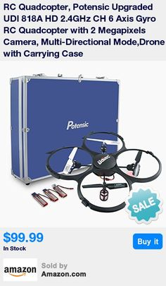 Easy to maneuver UAV drone for beginners * Stable flies at different speeds and directions * Effective operating range can reach 95ft * 24 months warranty and helpful after-sale service * What You Get: Potensic UDI 818A HD RC Quadcopter, 2.4GHz Transmitter, Carrying Case, (4) 500mAh Li-Po Batteries, (2) Spare Motors, 4GB Micro SD Card, USB Card Reader, Battery Charger, (4) Extra Blades, User Manual.
