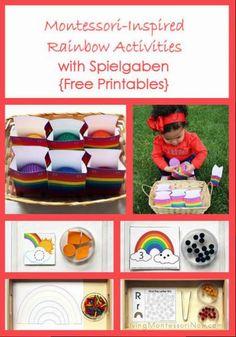 Montessori Monday - Montessori-Inspired Rainbow Activities with Spielgaben {Free Printables} - LivingMontessoriNow.com