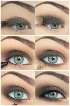 Maquillag yeux regard charbonneux