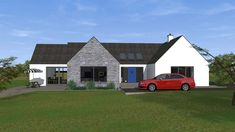 New Detached Bungalow and Detached Domestic Garage in Co. Dormer Bungalow, Walnut Kitchen, Old School House, Shed, Garage, Outdoor Structures, Cabin, House Styles, Home