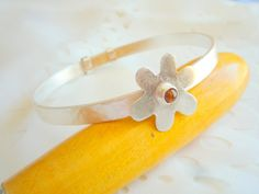 Sterling Silver bangle.Adjustable Sterling Silver by Iridonousa