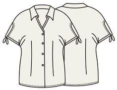 Выкройки блузок: блузка с V-образным вырезом PLUS SIZES