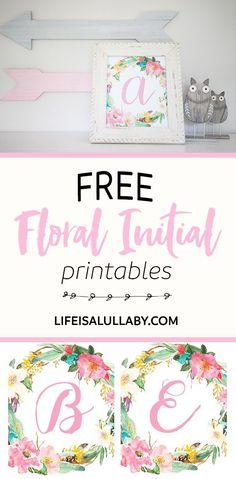 Free Initial Nursery Printables