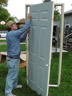 "Most exterior doors on mobile homes are not of standard size. If your door is in need of replacement, you can expect to pay 3-4 times the cost of a standard door to purchase a replacement of less than desirable quality. To get a better quality door at a ""normal"" price, you have two options -- cut the door opening bigger to accept a standard size door, or cut-down a door to fit the opening. If you have the headroom, cutting the opening bigger is the preferred way."