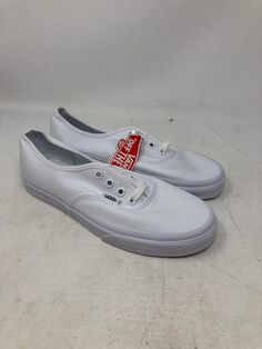 3c0e21a68c2cf3 VANS AUTHENTIC TRUE WHITE SKATE SNEAKERS MEN S SIZE 6 WOMEN S SIZE 7.5 NEW  WOB  fashion  clothing  shoes  accessories  unisexclothingshoesaccs ...
