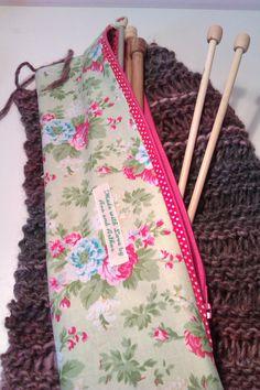 Pretty Knitting needle case £7.50