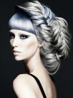 hair blue grey tones