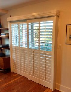 Bypass shutter by Budget Blinds of Norwell, MA