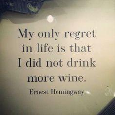 Hemingway - wine quote