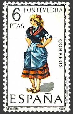 Collection of Spanish stamps:  1970 Pontevedra