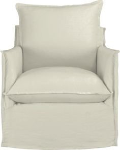 Charmant Oasis Swivel Chair In Chairs | Crate And Barrel   But Not In White Because  Hahahaha