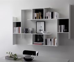 Game White Melamine Right Shelf Unit by DomItalia