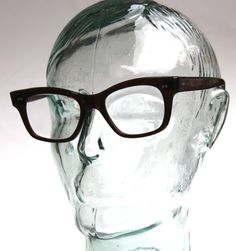 4fcc3c90b8f RARE Vintage 50s USA VAM Geek Chic Classic Wayfarer Horn Rim Eyeglasses  Eyewear Men or Women Espresso Brown