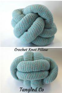Crochet Knot Pillow Pattern - Tangled Co