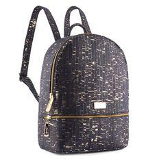 Rucksack «Gold» schwarz aus Kork – Veganer Rucksack von CorkLane Peta, Cork Material, Cork Fabric, Gold Sparkle, Black Backpack, Fashion Backpack, Fashion Accessories, Backpacks, Bags