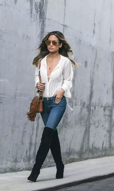 Trendy over the knee boots for winter and fall outfits 70