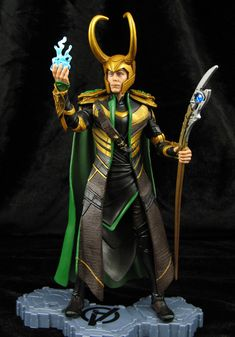 "Custom Avengers 6"" Movie Loki Marvel Legends figure"