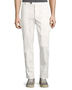 Cargo trousers Leisure Fit beige Brunello Cucinelli