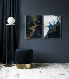 Blue Gold Poster in the group Prints / Art prints at Desenio AB Interior Desing, Nordic Interior, Room Interior, Interior Decorating, Living Room Decor, Bedroom Decor, Home And Deco, Scandinavian Design, Blue Gold