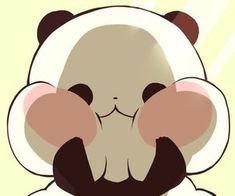 icon, kawaii, and love image Cute Panda Drawing, Cute Kawaii Drawings, Cute Animal Drawings, Kawaii Art, Cute Panda Wallpaper, Kawaii Wallpaper, Panda Wallpapers, Cute Cartoon Wallpapers, Panda Funny