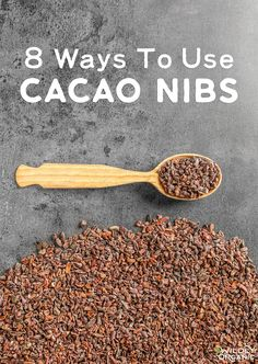 8 Ways To Use Cacao Nibs {add antioxidants to almost anything! Cocao Nibs, Raw Cacao Nibs, Granola, Chocolate Flavors, Delicious Chocolate, Chocolate Recipes, Chocolate Making, Cocoa Chocolate, Recipes