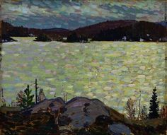 Islands, Canoe Lake - Tom Thomson , 1916 Canadian Oil on Wood x cm Emily Carr, Group Of Seven Paintings, Paintings I Love, Group Of Seven Art, Canadian Painters, Canadian Artists, Landscape Art, Landscape Paintings, Landscapes