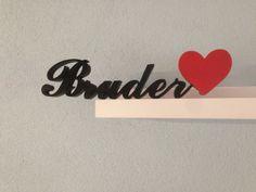 Bruder,rotes Herz von woodworld auf DaWanda.com