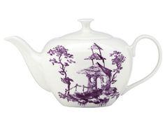 Lenox Scalamandre Toile Tale Amethyst Teapot