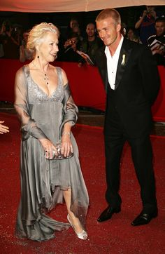 Pin for Later: 26 Stars Qui N'ont Pas Su Résister au Charme d'Helen Mirren David Beckham