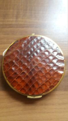 Rare vintage stratton compact in leather effect case by suffolkoddsandends on Etsy