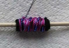 FELT+YARN+BEADS - fiber art bead - tutorial/combine with paper beads?