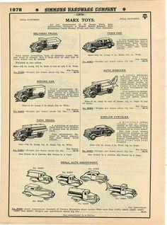 1935 Advert Marx Toy Trucks Cars Tow Wrecker Airflow Chrysler Tanker Fire Chief | eBay