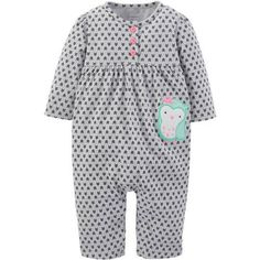 Child Of Mine by Carter's Newborn Baby Girl Knit Jumpsuit - Walmart.com