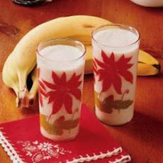 Banana Milk Drink... tasted something similar at Bru's Wiffle a Waffle, except they used honey